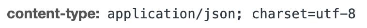 Content-Type header