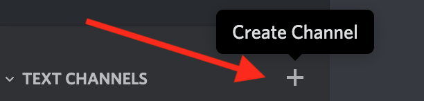 Discord create channel - step 1