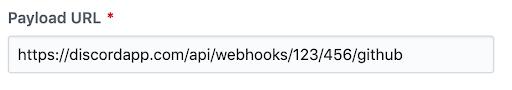 Github Discord payload URL